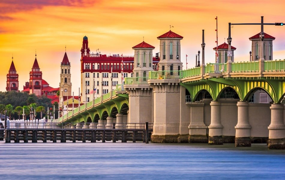 Bridge leading to St. Augustine, Florida town center